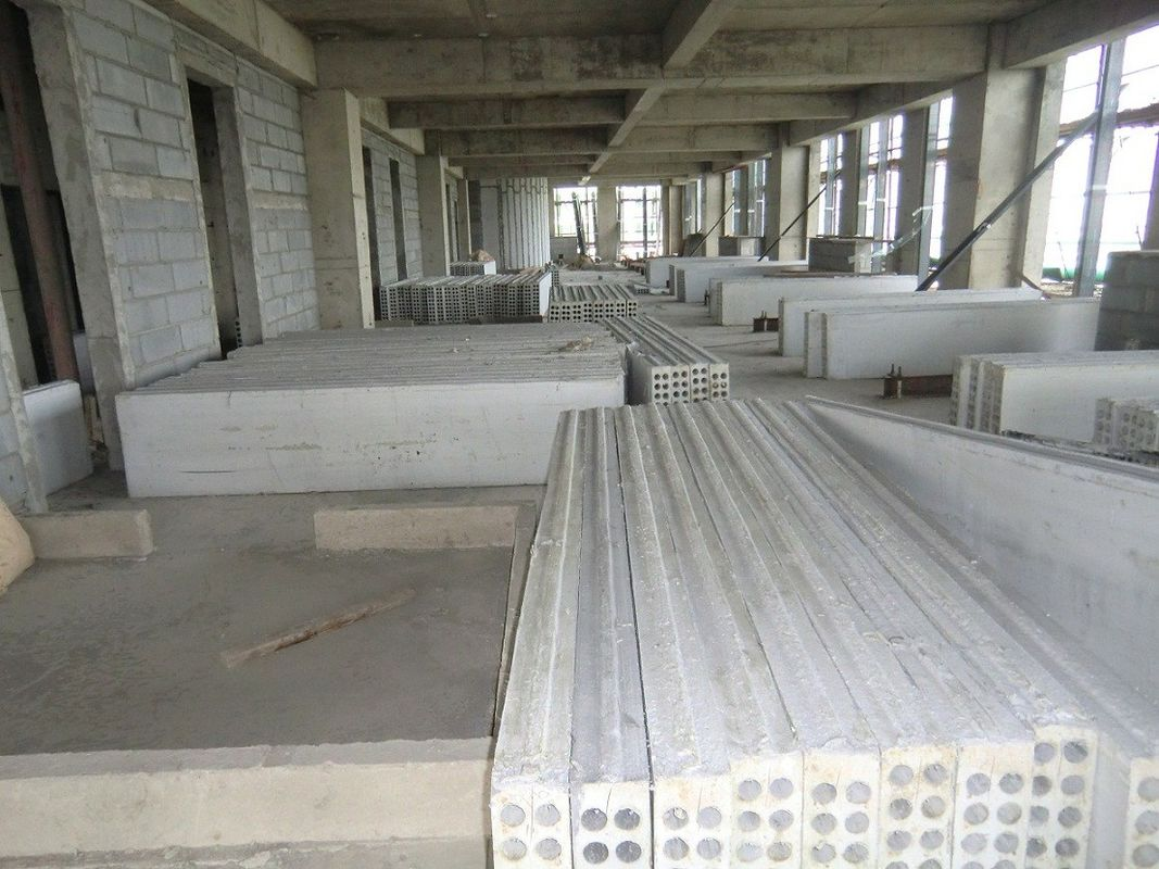 Construction mgo precast hollow core wall panels for high for Prefab columns